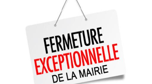 Fermetures estivales les samedis Mairie 03/07/2021 au 21/08/2021